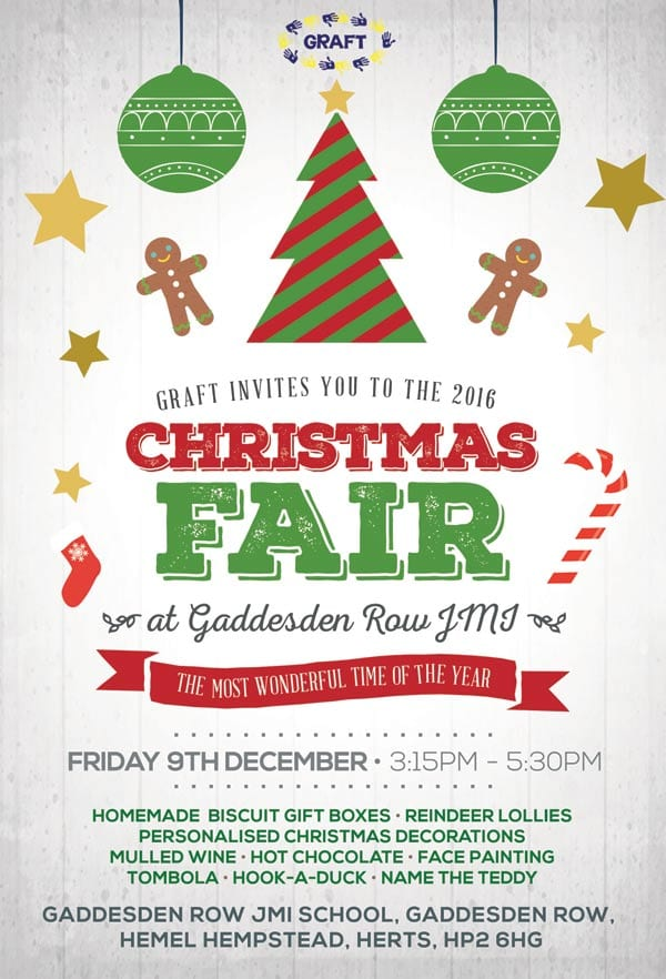 Gaddesden JMI Xmas fair flyer